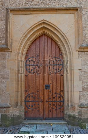 Side Door Of The Cathedral Of St Barbara In Kutna Hora