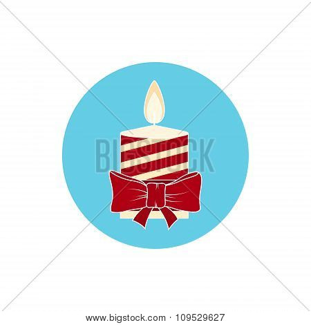 Icon  Colorful Christmas Candle