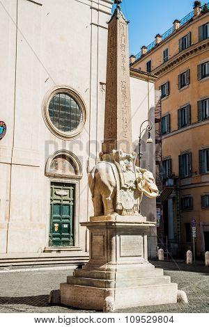 Rome - obelisk in Piazza Santa Maria sopra Minerva