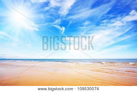 Blue sky and beach