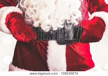 Santa Claus Costume With Belt And Buckle