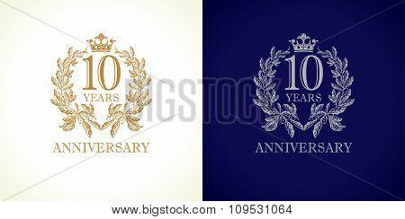 10 anniversary luxury logo
