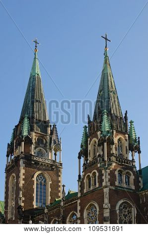 Towers Of Church Of St. Elisabeth