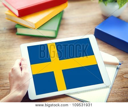 Sweden National Flag Government Freedom LIberty Concept
