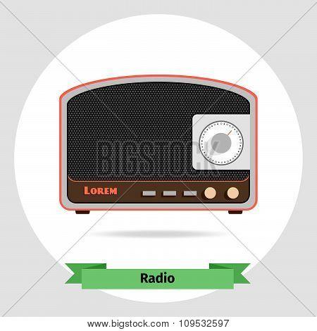 Radio retro   vector isolated