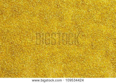 Golden glitter texture for background