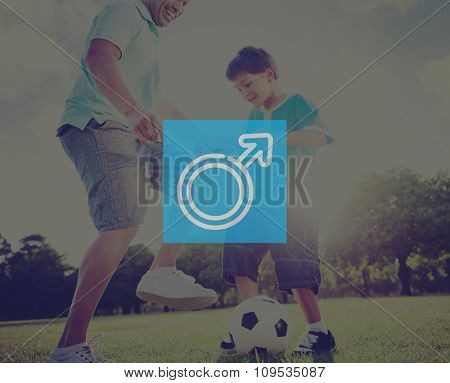 Male Football Dad Son Sport Family Play Gender Human People Concept