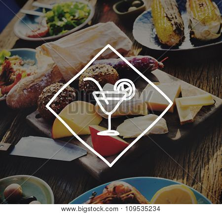 Cheese Meal Outdoors Party Food Restaurant Concept