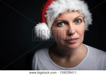 Christmas Female Beauty Portrait
