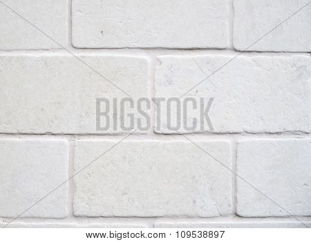 Decorative White Cladding Slabs Imitating Stones Closeup