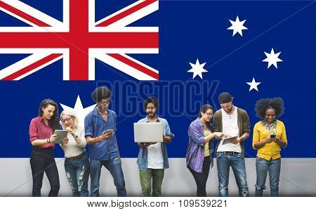 Australia Flag Country Nationality Liberty Concept