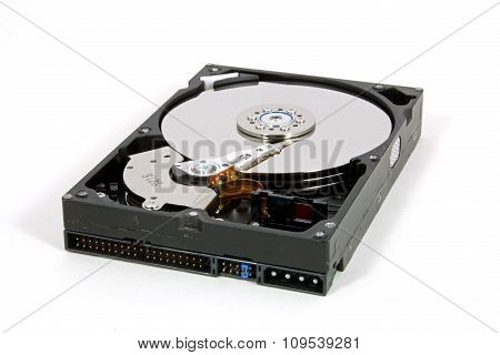 Hard Disk Drive Isolated On A White Background