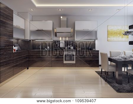 Dining Kitchen Modern Style