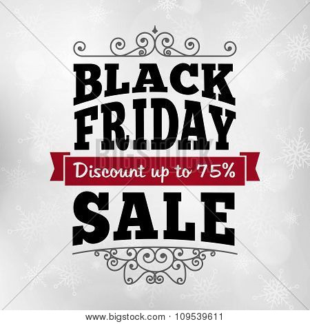 Vintage Black Friday Discount Sale Business Poster