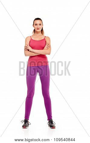 Aerobics fitness woman full length