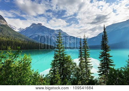 Beautiful Emerald lake in Canada