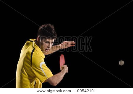Table tennis. young man