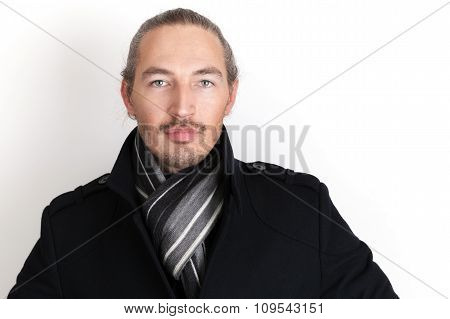 Close Up Studio Portrait Of Young Asian Man