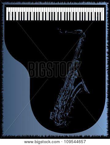 Sax Piano Background