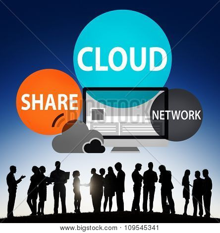 Cloud Computing Database Transfer Internet Technology Concept