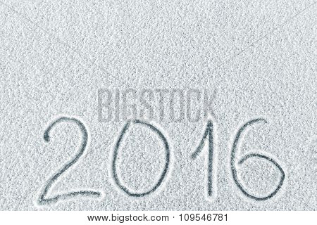 New Year's and Christmas background from snow