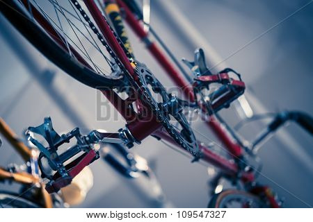 Overhead Red Bike