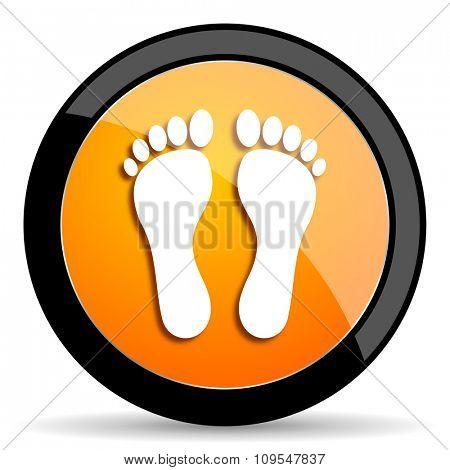 foot orange icon