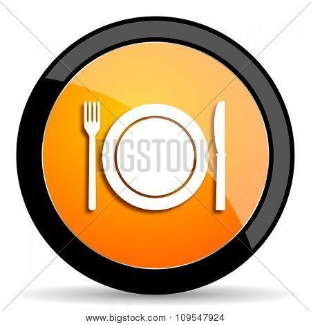 restaurant orange icon