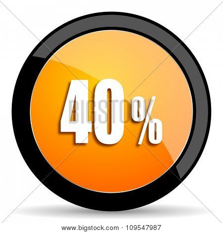 40 percent orange icon