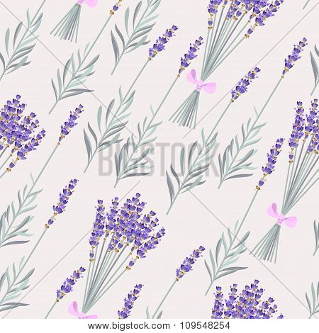 Lavender bouquets seamless