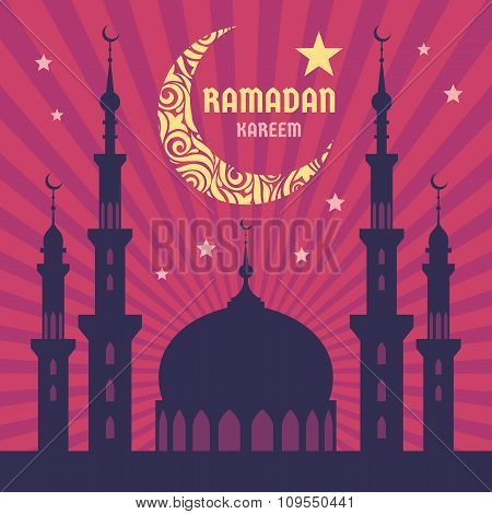 Ramadan Kareem - vector concept illustration.