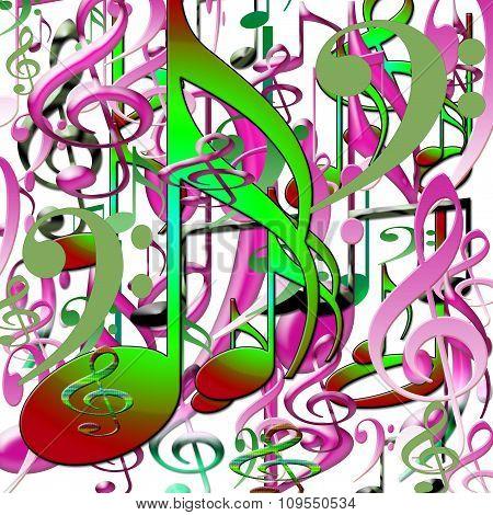 Set of musical symbols .