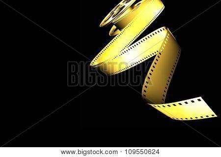 golden classic cinema film roll
