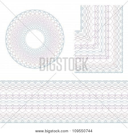 Guilloche Rosette And Border