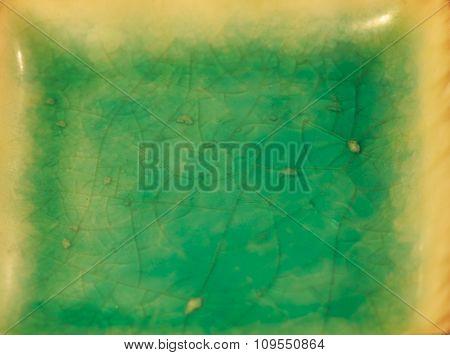 Glossy aqua blue pottery background