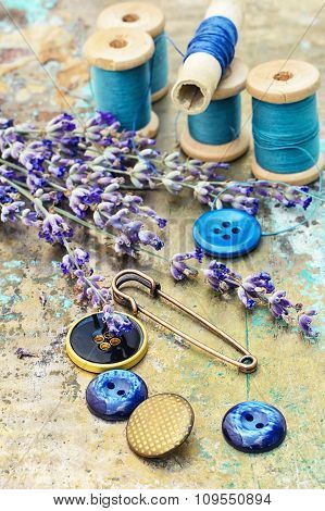 Composition Of The Threads And Lavender