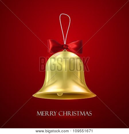 Golden Christmas Bell.