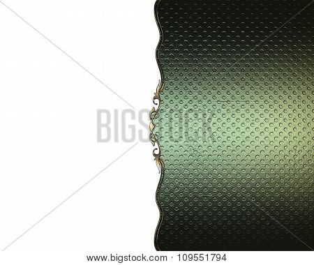 Green Texture On A White Background With A Pattern. Element For Design. Template For Design. Copy Sp