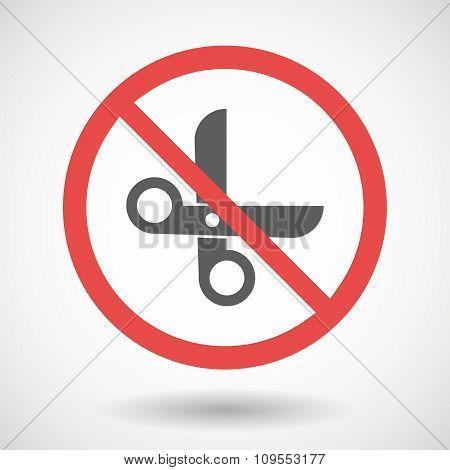 Forbidden Vector Signal With A Scissors