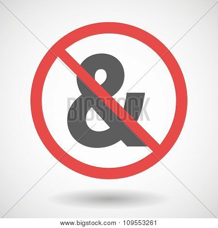 Forbidden Vector Signal With An Ampersand