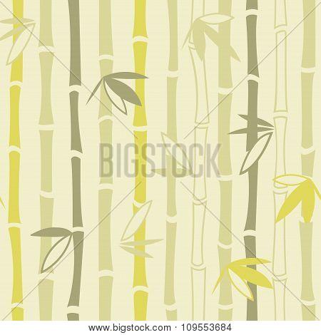 Bamboo ornament seamless pattern