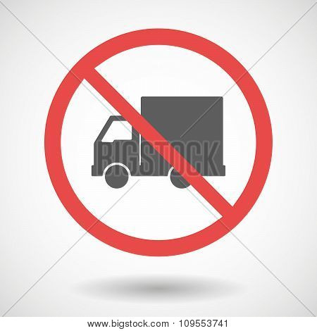 Forbidden Vector Signal With A  Delivery Truck