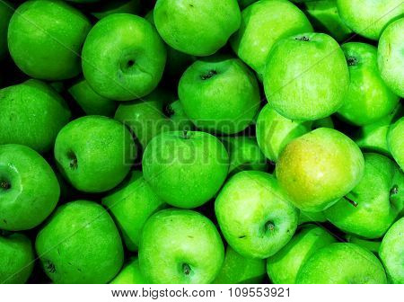 Green Apples High Contrast Background