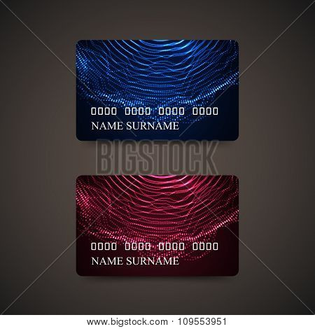 Gift Or Credit Card Design Template