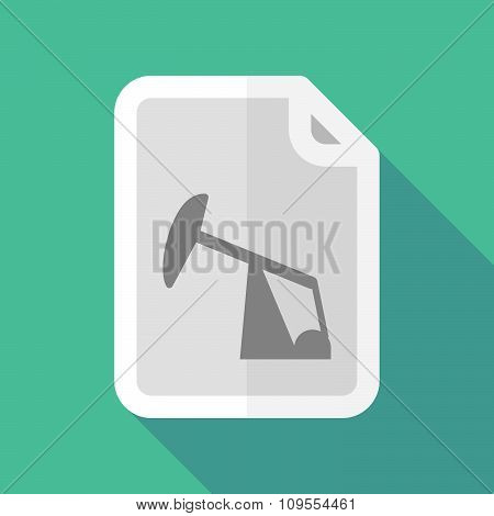 Long Shadow Document Vector Icon With A Horsehead Pump