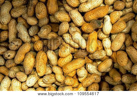 Roasted Peanuts Macro High Contrast Background