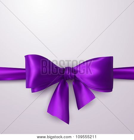 Purple Bow And Ribbon.