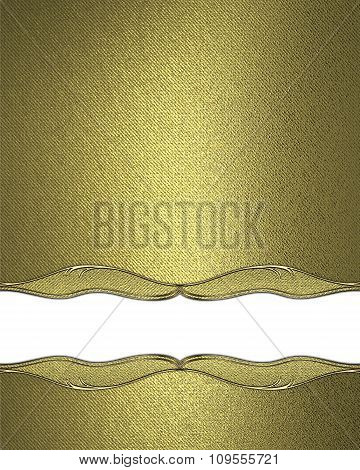 Golden Texture With A Cutout . Element For Design. Template For Design. Copy Space For Ad Brochure O