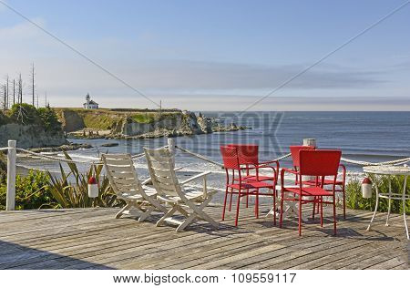 Scenic View From A Seaside Balcony