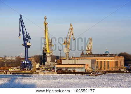 St. Petersburg. Seaport. Russia in a sunny day